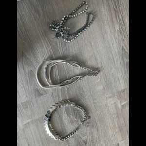 Silver costume necklaces as is pretty $12 each